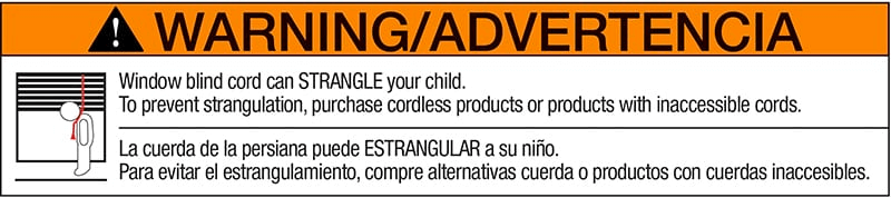 Child Safety Warning Label